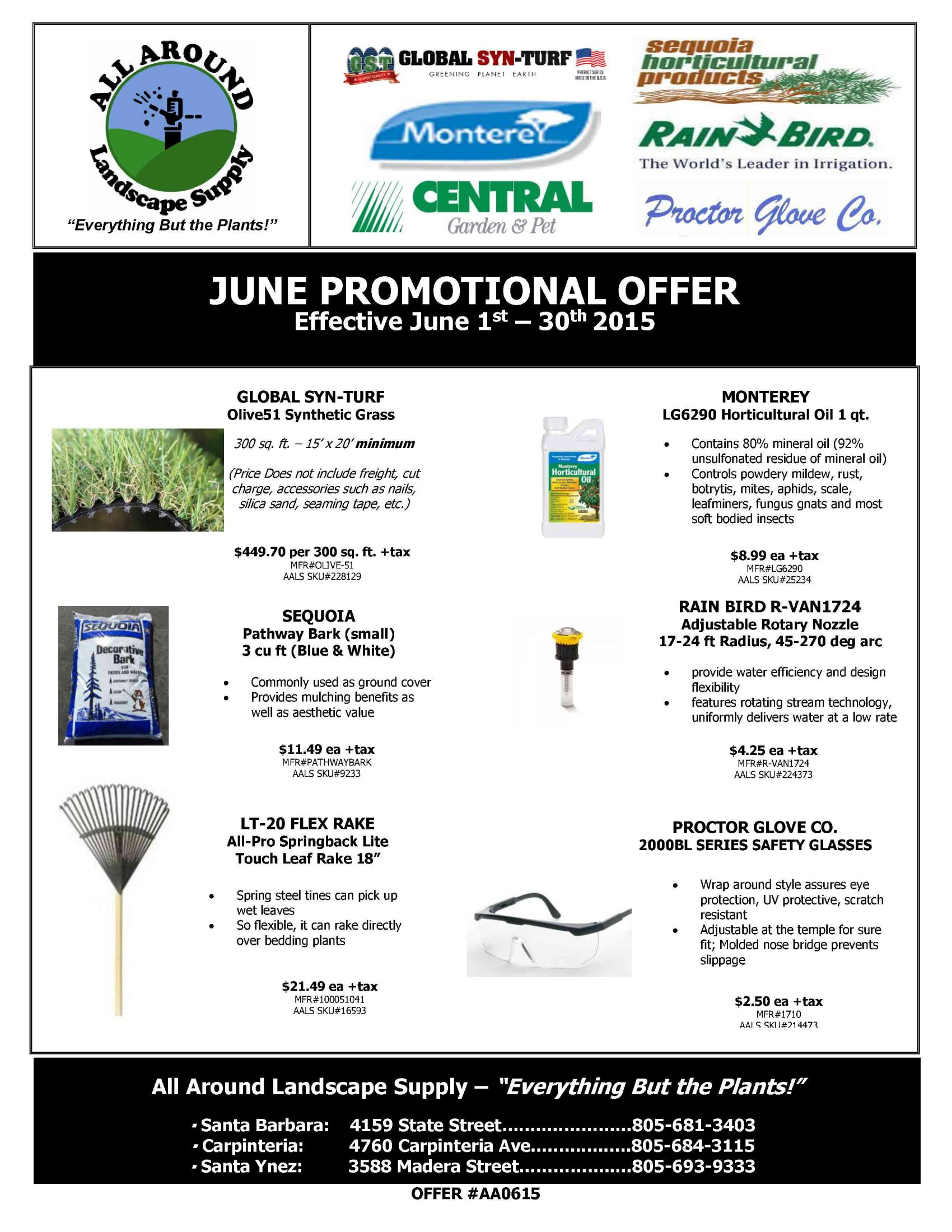 All Around Landscape June 2015 Promotions