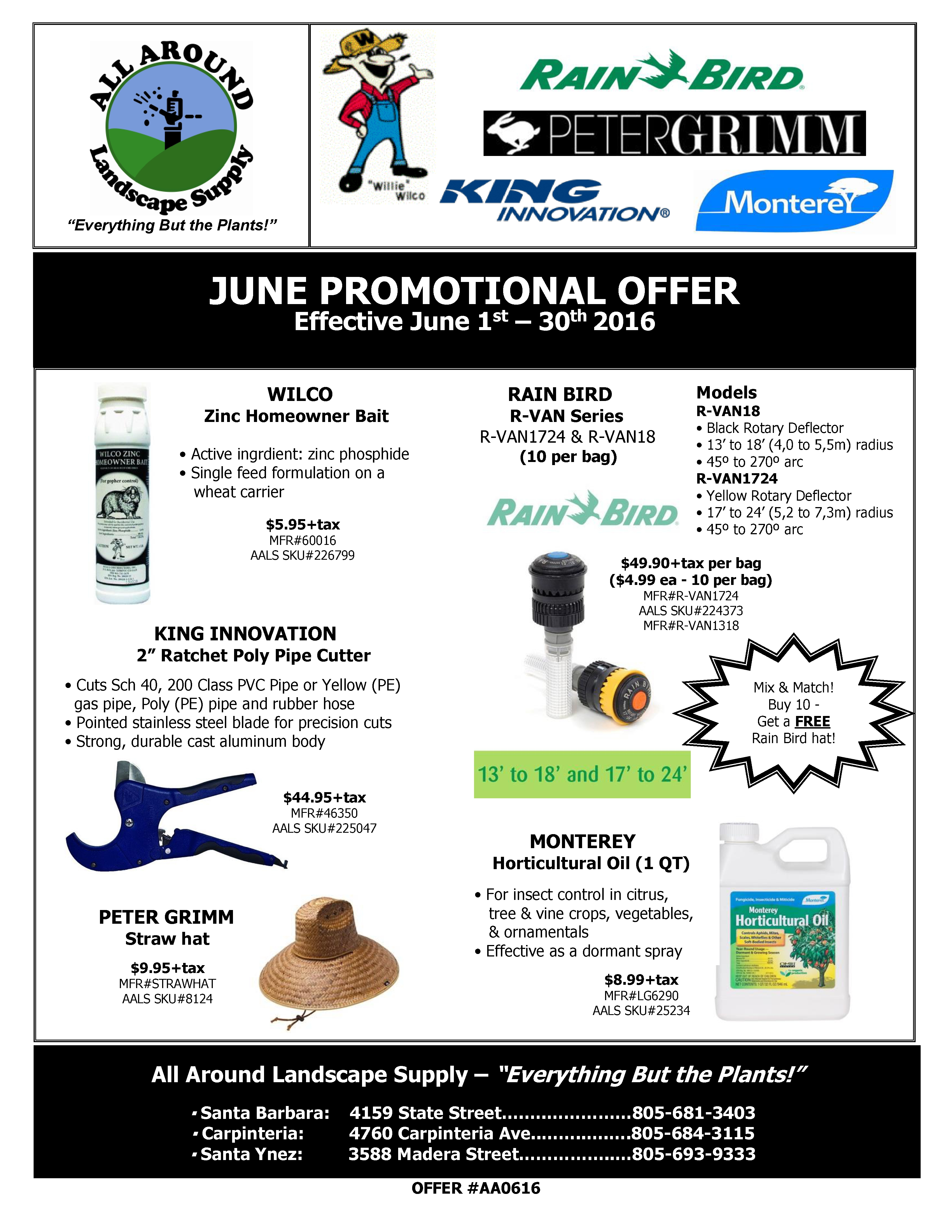 All Around Landscape June 2016 Promotions