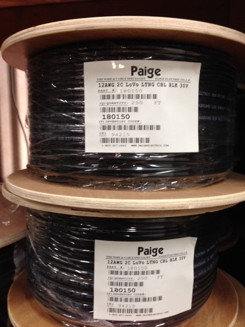 PAIGE ELECTRIC #12 LOW VOLTAGE CONDUCTOR CABLE 250' ROLL